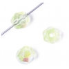 Fire polished 6mm Transparent chartreuse Aurora Borealis